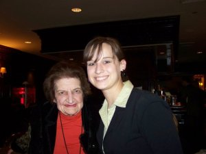 Helen Thomas and Hailey Branson-Potts, 2009.
